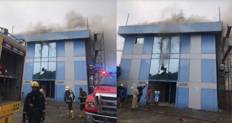 Lagos building fire