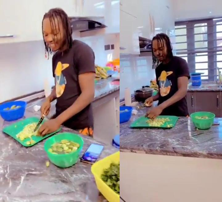 Naira Marley cooking