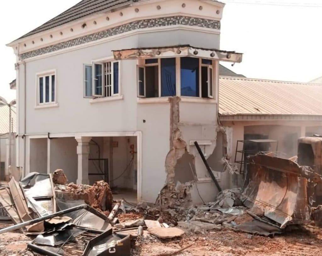 Kabaka's hotel demolished by Edo state government
