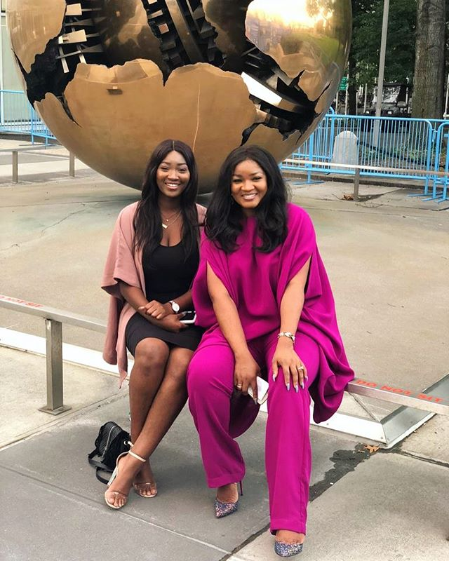 Omotola and daughter, Meraiah