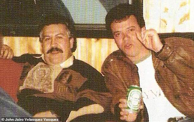 Drug lord Pablo Escobar's (left) with his former chief hitman Jhon Jairo 'Popeye' Velasquez