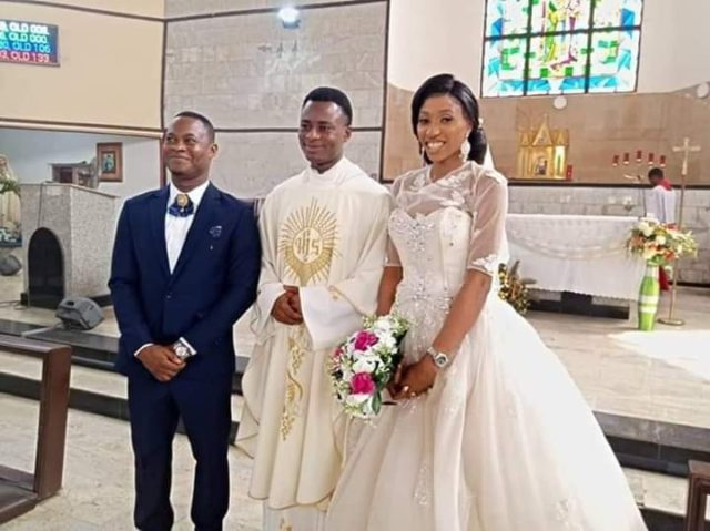 Augustus and Vivian hold wedding without reception in Lagos.