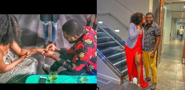 Kelly Hansome proposes to his girlfriend