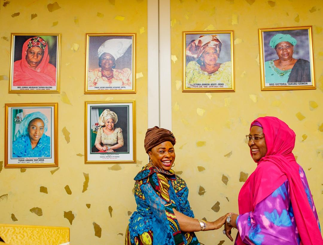 Patience Jonathan and Aisha Buhari in Aso Villa
