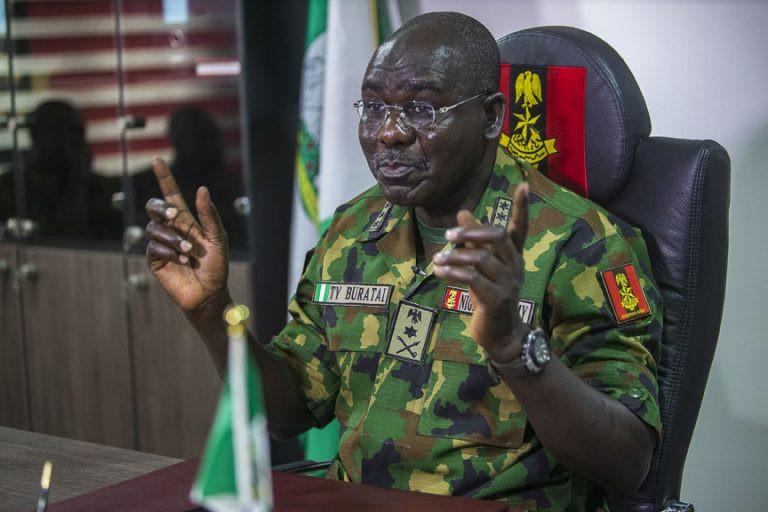 Chief of army staff, Tukur Yusuf Buratai