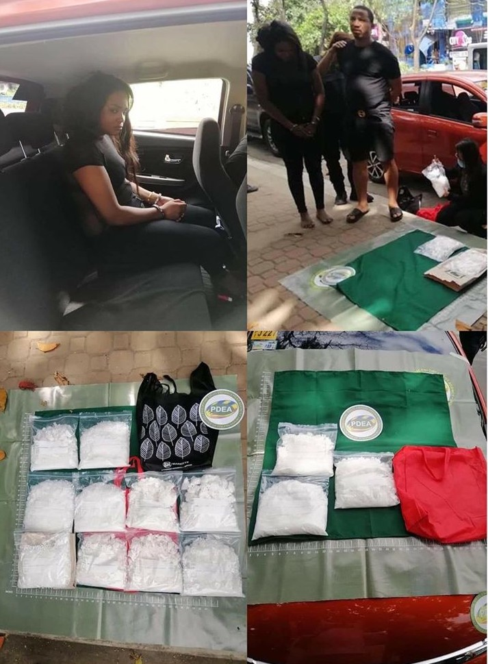 The drug pushers arrested in Philippine
