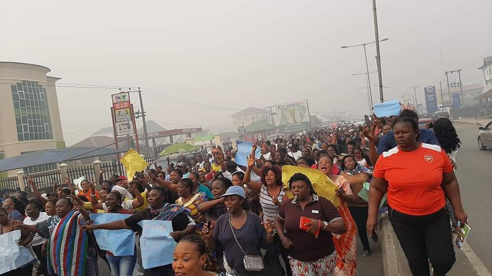 Protesters in Bayelsa