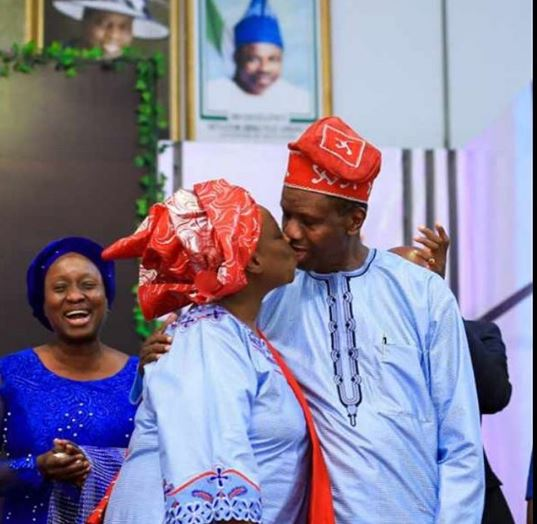 Adeboye and wife kiss to celebrate val