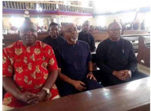 Top dignitaries at the burial of Nnamdi Kanu's parents in Umuahia
