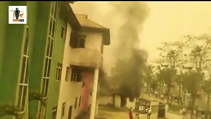 PDP secretariat on fire in Bayelsa state