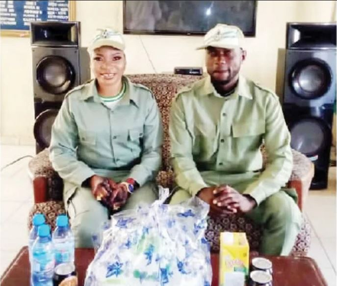 NYSC Members Who Got Married In Khaki Uniforms Reveal Why They Rushed To Have Their Wedding
