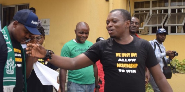 Agba Jalingo after his release today