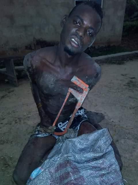 The thief caught in Bayelsa