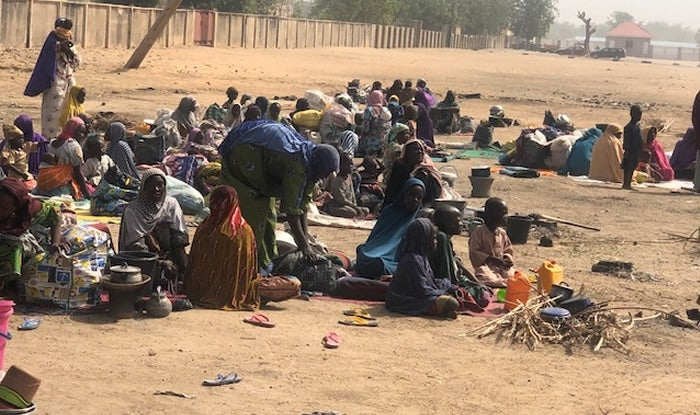 Residents sleep on the streets for fear of Boko Haram