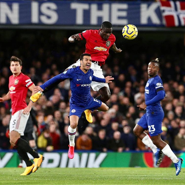Manchester United yesterday defeated Chelsea in a premier league clash