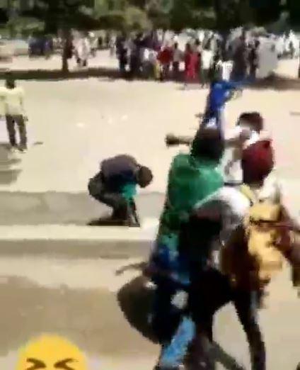 Students beat teacher