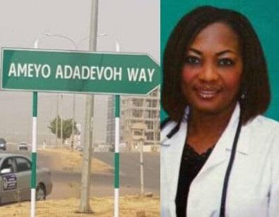 Major road named after late Stella Adadevoh