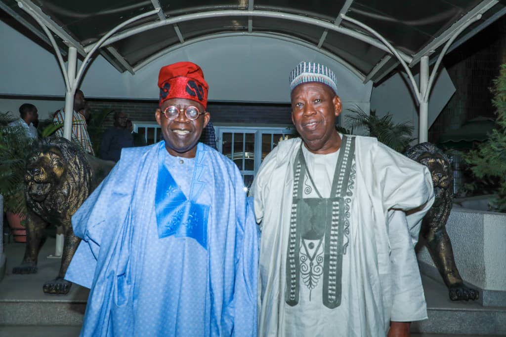 Bola Tinubu and Abdullahi Ganduje meet in Lagos