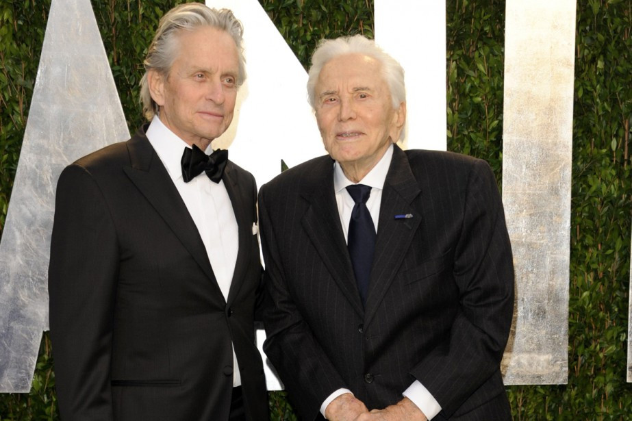 Michael Doughlas and late father, Kirk Douglas