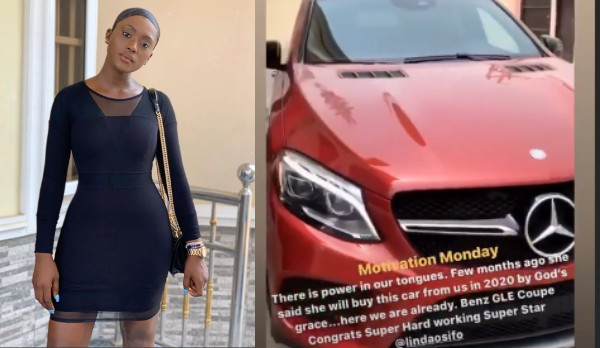 Actress Linda Osifo buys a new car