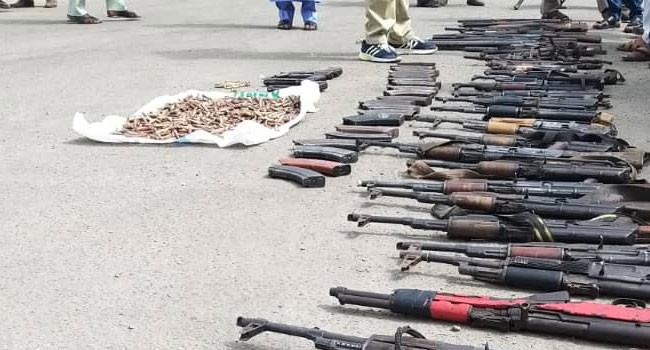 rifles in Bauchi forest
