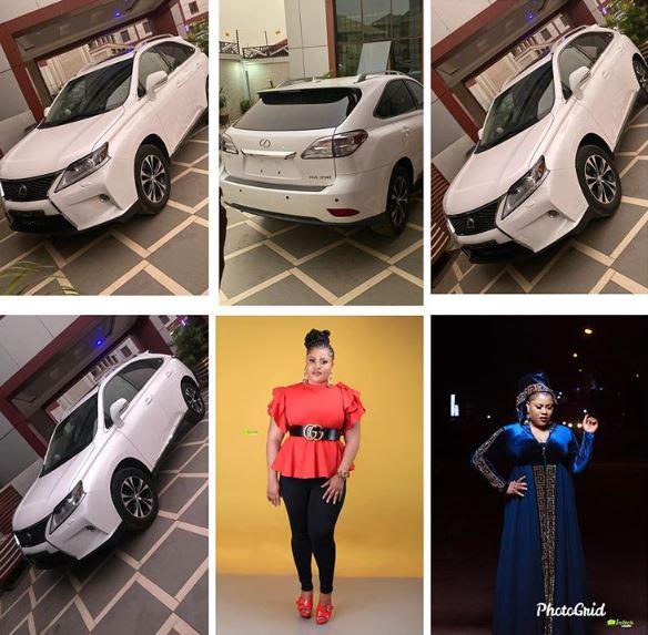 Gift Mbanaso gifts herself a brand new Lexus car