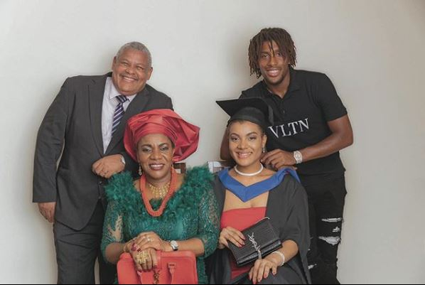 Iwobi poses with his family members