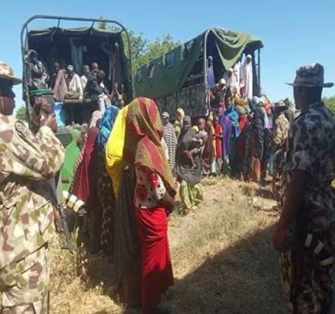 Army rescues victtims held hostage by Boko Haram