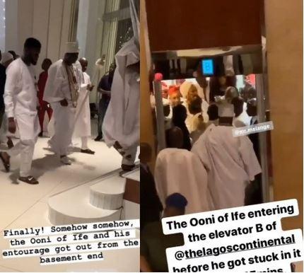 Ooni of Ife stuck in elevator