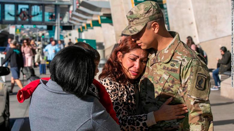 The US Army officer cries out his mom was deported