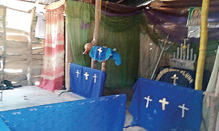 The shrine where a LASU undergraduate was killed and used for money ritual