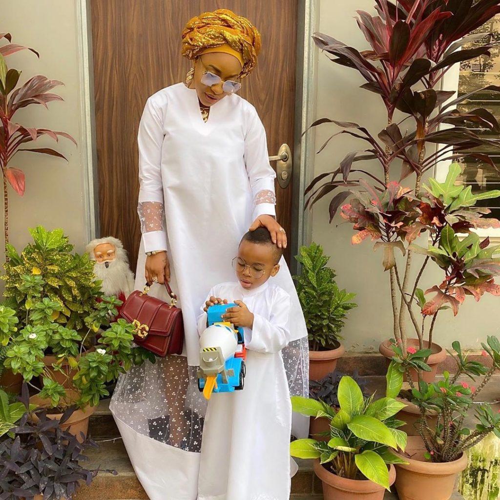 Tonto Dikeh and son, King