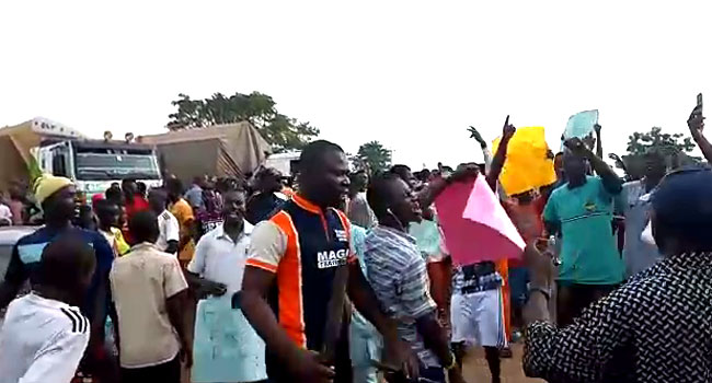 residents protesg in Adamawa
