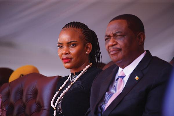 Zimbabwe's Vice President Constantino Chiwenga and wife, Mary Mubaiwa