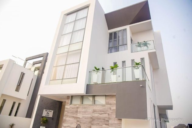 Super Eagles star Olarenwaju Kayode shows off his mansion