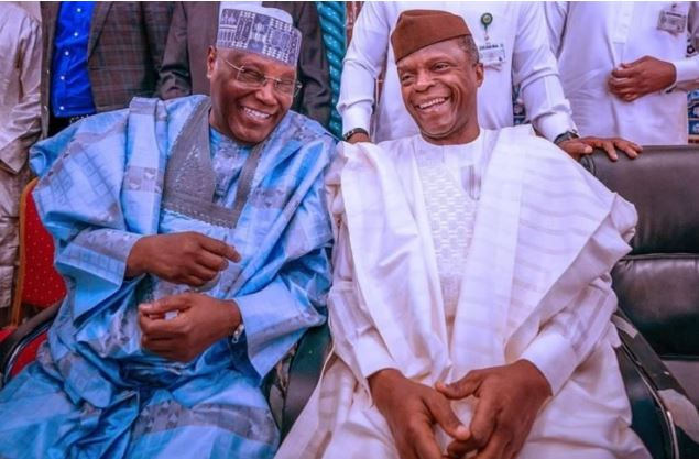 Atiku Abubakar and Yemi Tinubu at Ribadu's son's wedding