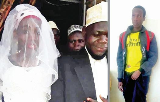 The Imam made the discovery after marrying the bride
