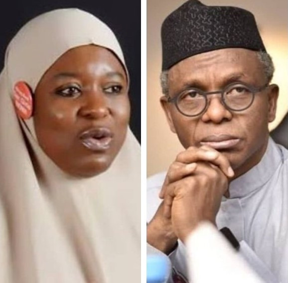 Aisha Yesufu and Governor Nasir El-Rufai