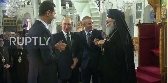 Vladimir Putin, Syrian leader Bashar al-Assad
