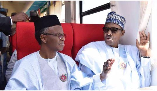 Kaduna State governor, Nasir El-Rufai and President Muhammadu Buhari