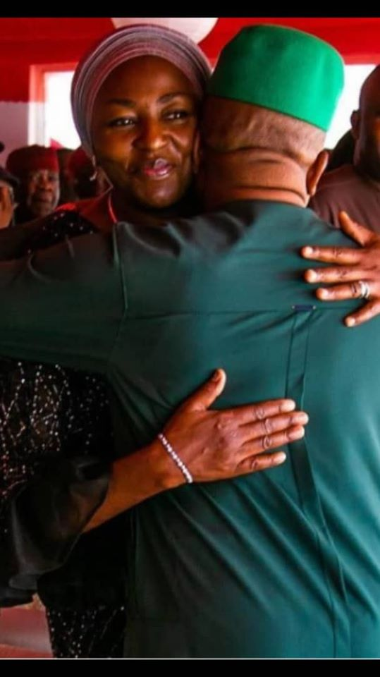 Ebere Ihedioha consoles husband following Supreme Court's verdict