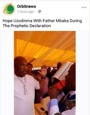 Father Mbaka and Hope Uzodinma