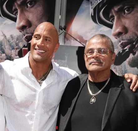 The Rock and his father, Rocky Johnson