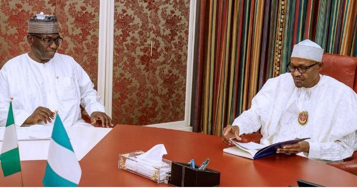 Kwara State Governor Abdulrahman Abdulrazaq, President Muhammadu Buhari