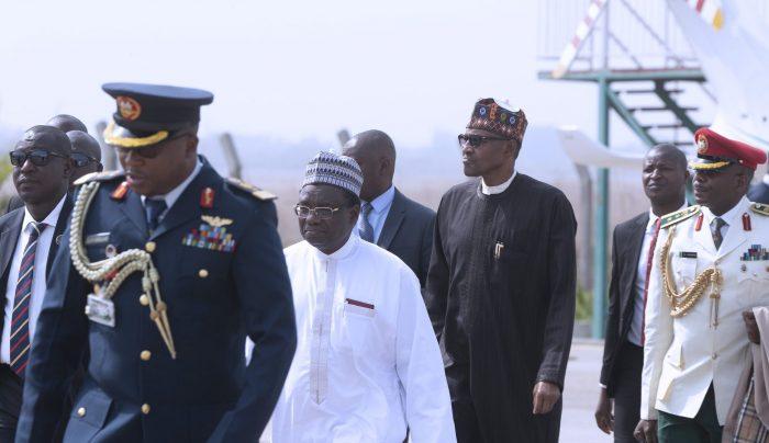 President Muhammadu Buhari leaving Abuja for London
