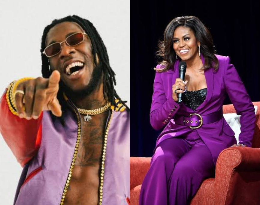 Burna Boy and Michelle Obama