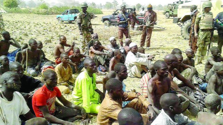 File photo: Repentant Boko Haram