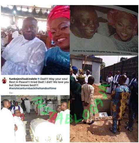 Funke Akindele berated for refusing to attend father's burial