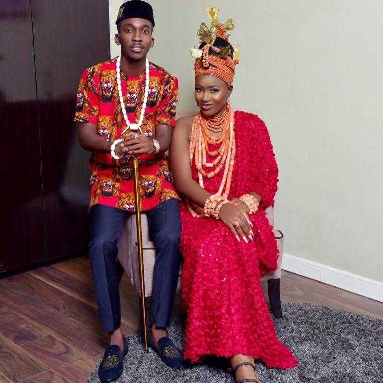 Onyekuru and wife, Esty
