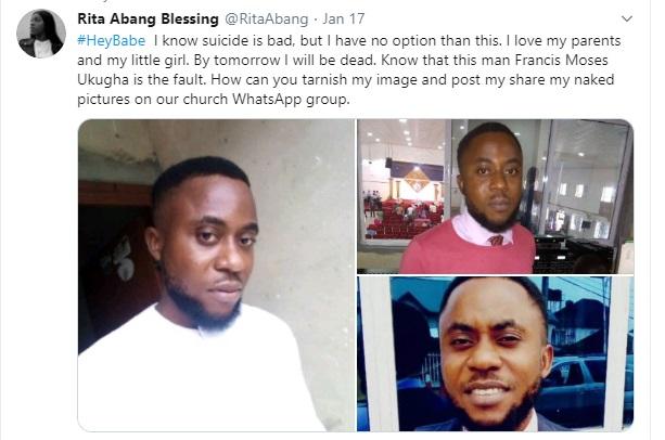 The suspect, Francis Moses Ukagha